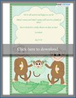 family poem baby shower invitation