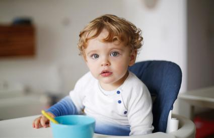 boy in his high chair