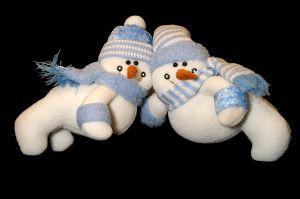 Matching snowman Christmas gifts for twins