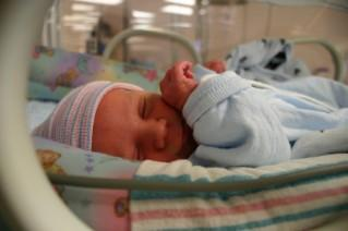Image of a preemie baby in an incubator