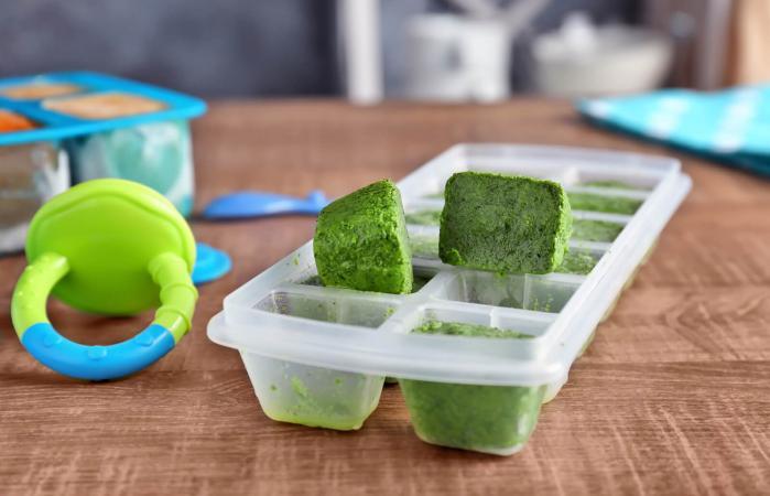 Puré de verduras congeladas