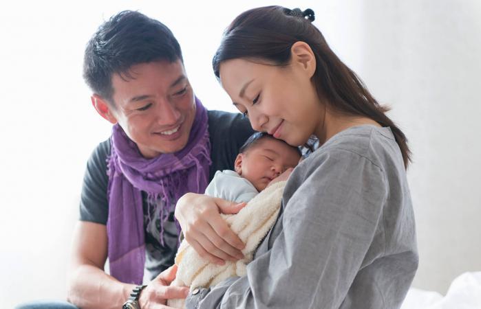 La familia en la maternidad