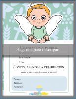 Invitación Bautismo Ángel
