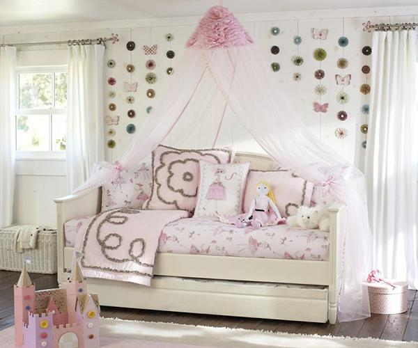 Pottery Barn Ruffle Flower Canopy & Canopy Bed Curtains Gallery | LoveToKnow