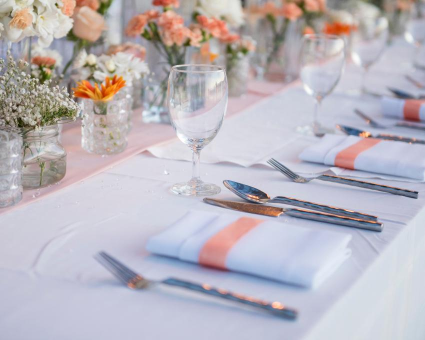 cloth napkin and no plate & Table Setting Napkin Placement Ideas | LoveToKnow