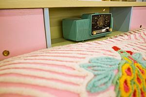 Pink vintage bedding