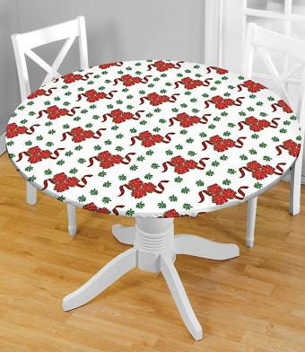 Carol Wright Gifts Holiday Fitted Tablecloth