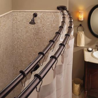 Bennington Adjustable Double Curved Shower Curtain Rod