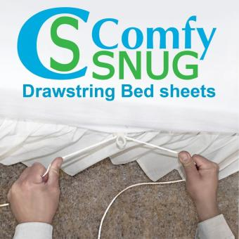 TWIN White Adjustable Bed Sheet