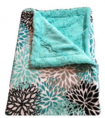 Teal Minky Adult Size Blanket