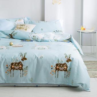 Hipster Deer and Flower Bedding Set