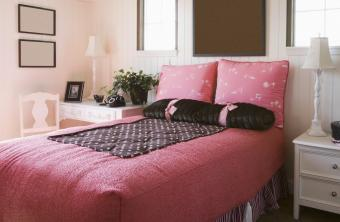 Decorated Pink and Brown Girl's Bedroom