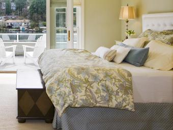 Decorated master bedroom