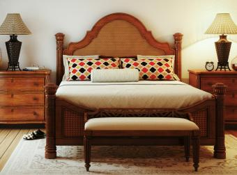 Accent pillows on bed