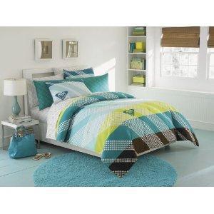 Roxy teal bedding set