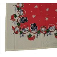 vintange snowman pattern tablecloth