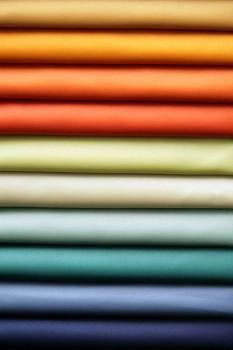 Stack of colored sheets