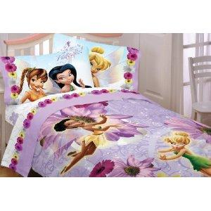 Tinkerbell comforter set lovetoknow for Tinkerbell bedroom furniture