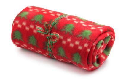 Christmas fleece throw