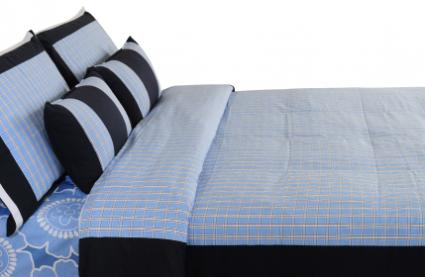 Nautica blue bed