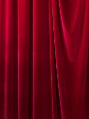red velvet curtain panel