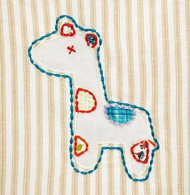 giraffe design for a baby blanket