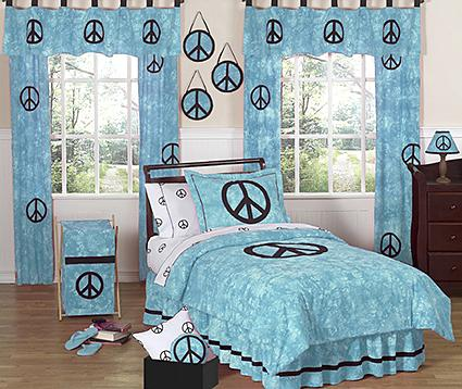 Bon Peace Blue Twin Bedding Collection