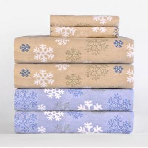 Pointehaven Heavy Weight Printed Flannel Sheet Set