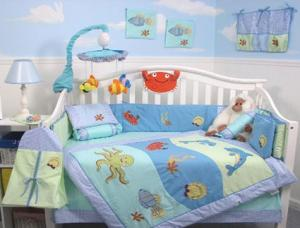 13-piece Dolphins Nursery Bedding Set