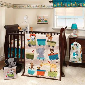 Animal Choo Choo Express 3-Piece Crib Set