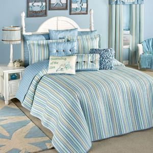 Clearwater Coastal Striped Oversized Bedspread