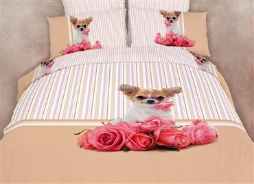 Chihuahua Dog Themed Girls Bedding Duvet Cover Set