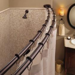 Bennington Adjustable Double Curved Shower Curtain Rod