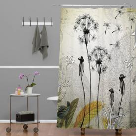 Herkimer Little Dandelion Extra Long Shower Curtain