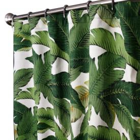 Extra Long Shower Curtains Swaying Palm Aloe