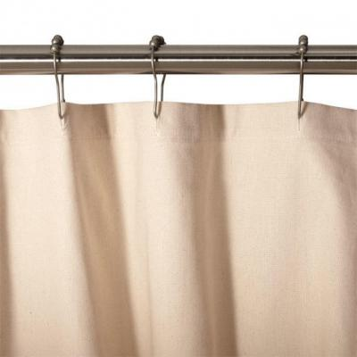 Cotton Duck Shower Curtain in Natural