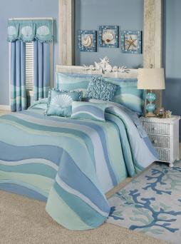 Ocean Tides Oversized Bedspread