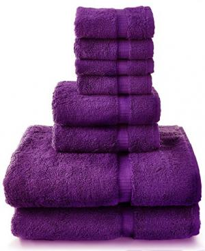 8 Piece Turkish Luxury Turkish Cotton Towel Set