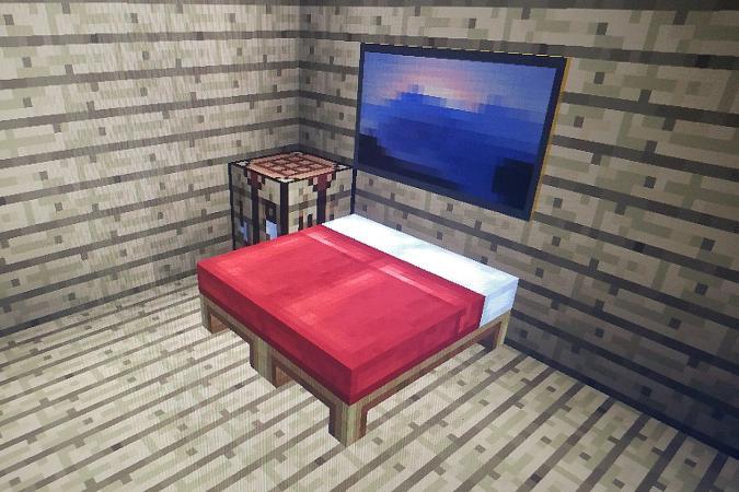 Minecraft bed