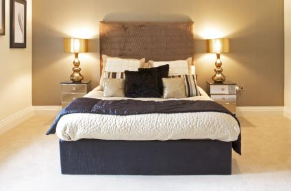 Large bright luxury bedroom