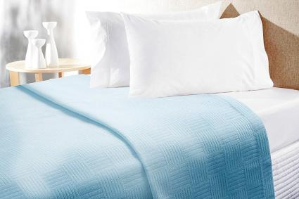 Superior Quality Warm Bed Blankets Aqua-Twin