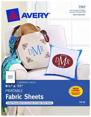 Avery Printable Fabric for Inkjet Printers