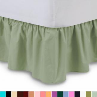 colored ruffled bed skirt