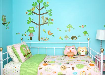 Woodland themed bedroom