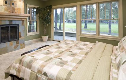 Architectural patterns in master bedroom