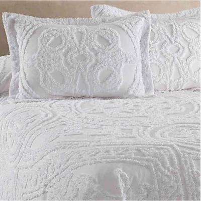 Strallan Chenille Bedspread in White