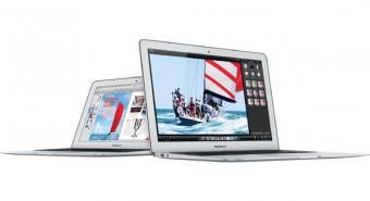 Two Apple MacBook Air Laptop Computers