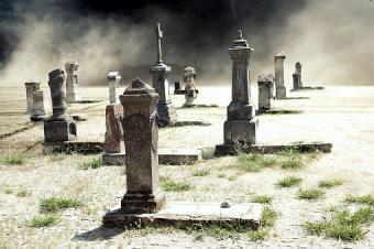Photo of a spooky cemetery