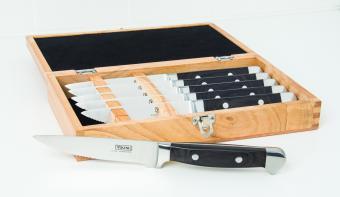 Viking Steak Knife Set in Bamboo Case