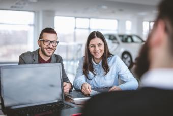 Visiting a car dealership